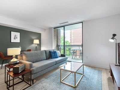 Photo for Modern Foggy Bottom 1BR w/ W/D + Gym 5 block to World Bank by Blueground