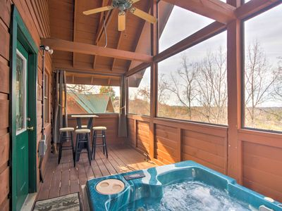 Photo for Get away to Autumn Breeze! Cozy Cabin w/ Hot Tub