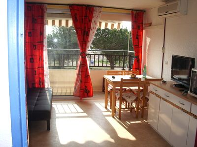 Photo for Nice studio private residence sea view, ideal for a small family