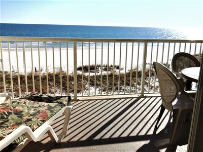 Photo for Gulf Front Unit, 1 BR/2 BA w hall bunks, next to State Park Fishing Pier
