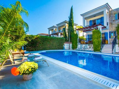 Photo for Villa Galina: Large Private Pool, Walk to Beach, Sea Views, A/C, WiFi, Eco-Friendly