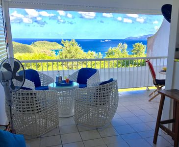 Photo for Rental T2 with breathtaking sea view on the bay of Fort de France. Classified 3 *