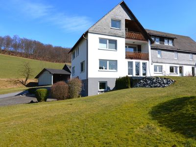 Photo for Quietly situated apartment near Schmallenberg with private terrace