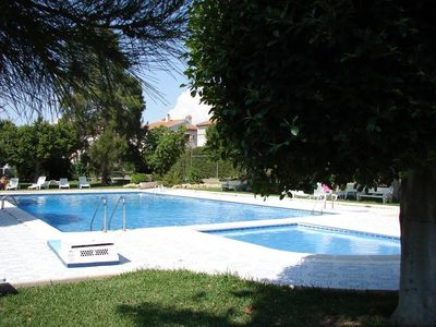 Photo for Bungalow (1st floor) with pool - comfortable for 4 people with parking
