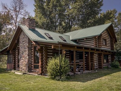 Preacher's Cabin - a real Montana log cabin, right at river's edge - sleeps 6