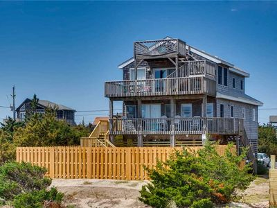 Photo for Sun-Drenched Oceanfront Fun in Salvo w/Private Pool, Hot Tub, Hulu, Dog-Friendly