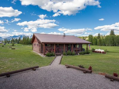 Photo for Montana Log Cabin w/Full Amenities- Stunning Views of Glacier National Park!