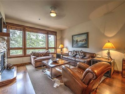 Photo for Luxury condo nestled in the pines with outdoor pool & hot tubs, hiking trails closeby