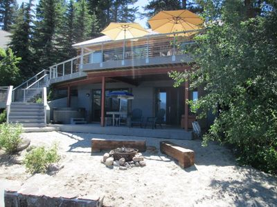 Photo for Lakefront House with Private Beach, Dock, Hot Tub, 'Boat House'