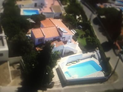Photo for Spacious  luxury villa with 12m heated pool and sea views A/C throughout