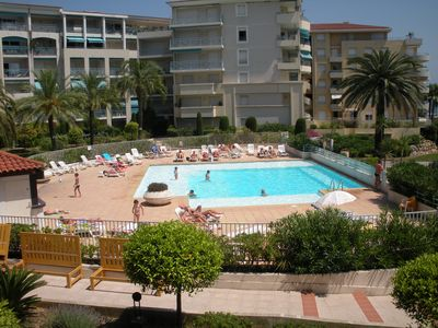 Photo for JUAN LES PINS conditioning Appart 2 rooms very good quality sea view and pool pk