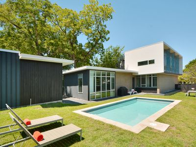 Photo for Multilevel Modern: Partial City Views - 1 Blk to SouthCongress: w/SWIMMING POOL