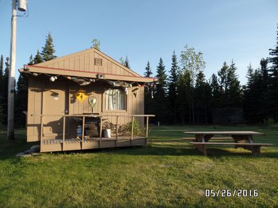 Photo for Rustic one room cabin on 600 feet on the Kenai River