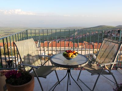 Photo for Panorama View of Sea Of Galilee;  Close to all atractions;  Homemade Breakfast!