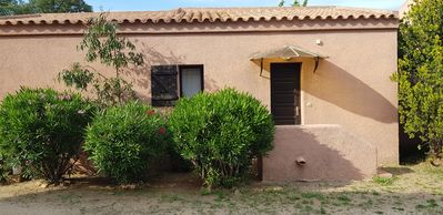 Photo for 700 m walk from the beach of St Cyprien, charming little villa