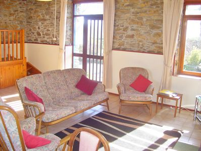 Rose Gite is very spacious, it looks out onto our sunny terrace and gardens.