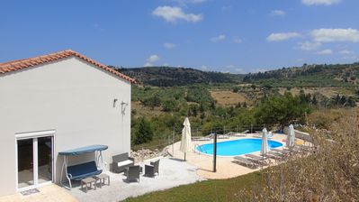 Photo for Private Villa, with pool  and superb views, only 5 min. fr. sandy beach