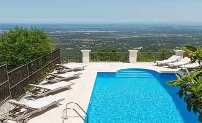 Photo for Secluded Villa, Private Heated Pool, Sea Views, Outside Terraces & Dining Areas