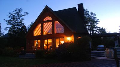 House at twilight