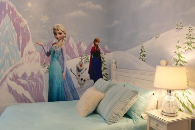 Frozen Room with two double beds and en-suite bathroom