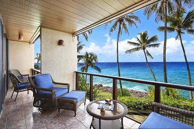 Fabulous Poipu Makai E2 Updated Unit W Stunning Oceanfront View Watch Sunsets Honu Poipu Caraccident5 Cool Chair Designs And Ideas Caraccident5Info