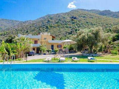 Photo for Charakas Holiday Home, Sleeps 7 with Pool, Air Con and WiFi