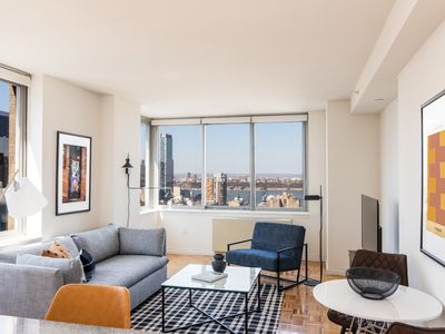 Photo for Sonder | Theater District | Stylish 1BR + Sofa Bed