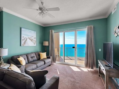 Photo for Gulf Front Master! Huge Balcony! Wifi included! Free Tickets to Gulf World! Ocean Villa 21st floor