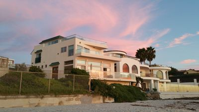 The home at sunset.