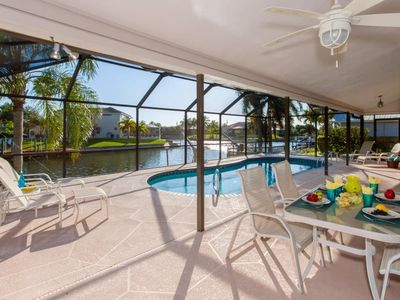 Photo for 3 bedroom/2 bath gulf access home solar and electric heated pool