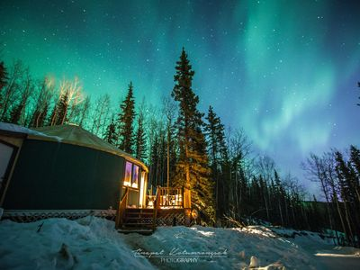 The Aurora Yurt ~ A Deluxe Mountain Getaway Above Fairbanks With Great Views