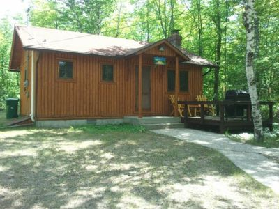 Photo for Private log cabin with spacious view of Grand Lake
