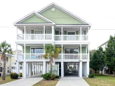 Photo for Surfside Beach House, Walk to Beach, Linens, Pvt Heatable Pool, Golf Cart Avail