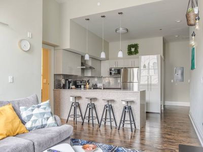 Photo for Trendy 1BR Loft in Historic Bldg | ♥ of Downtown!