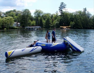 Everyone loves the Aquabouncer, in the water July and August!