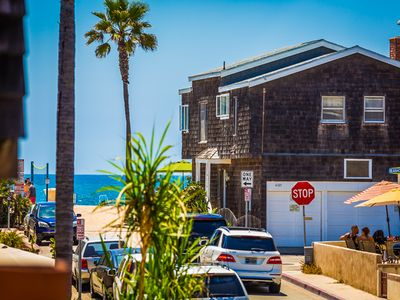 Photo for 10% OFF AUG - Stunning Home, Steps to Beach w/ Ocean Views + Patio