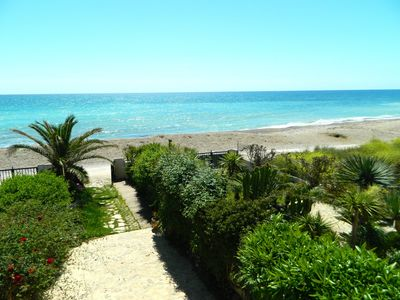 Photo for VILLA BENICARLO - Villa 1st line at 12m from the beach, Garden, Panoramic view of the sea, Wifi
