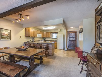 Photo for Rustic Condo at High Country Haus w/ 3 Bed/2 Bath Condo.  Wood Fireplace!