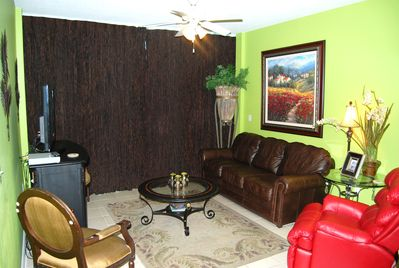 Leather furniture in the living room!