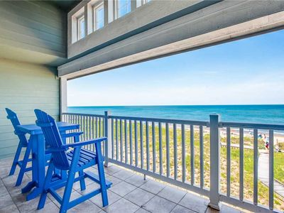 Photo for The Wright Place: Roomy Top Floor Oceanfront Condo with Vaulted Ceilings