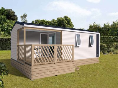 Photo for Nice chalet with deck, in the Antwerp Kempen