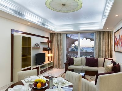 Photo for Sea View & Garden Luxury Apt on The Palm