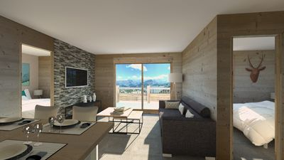 Photo for New apartment on the slopes with panoramic views