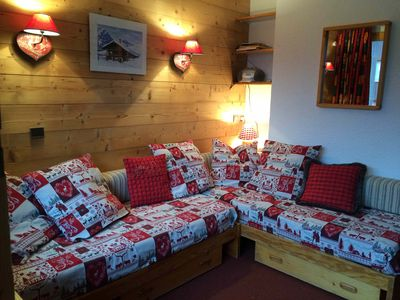 Photo for Comfortable studio for 4 people in Méribel Mottaret, at the foot of the slopes 3 Vallées