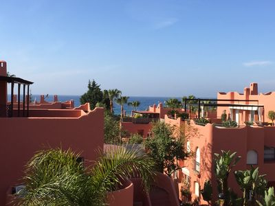 Photo for PENTHOUSE WITH TERRACES ON THE BEACH, SEA 3D GARDENS, POOL