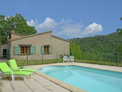 Photo for Villa with swimming pool and panoramic view walking distance from Ampus