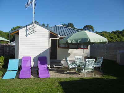Photo for Lesconil Chalet 1km from the beach, heated pool, large fenced