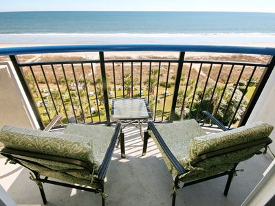 Photo for In Heart of Myrtle Beach, Walk Downtown, 1BD Oceanfront condo, sleeps 8