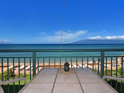 Photo for Makani Sands #208 1brm Beachfront condo with balcony on the ocean
