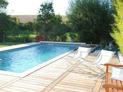 Photo for Pleasant village house, heated pool, 4 bedrooms 2 bathrooms, near the sea